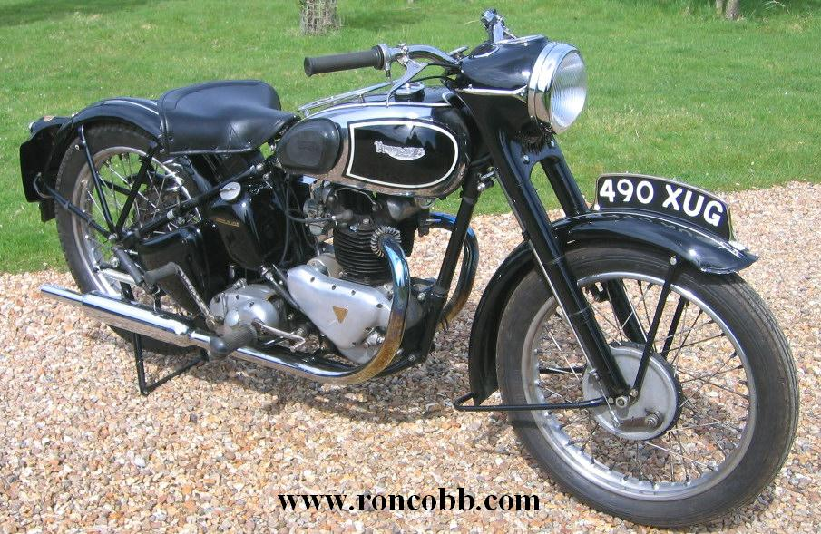 1949 Triumph 3t 350cc Twin Classic Motorcycle For Sale