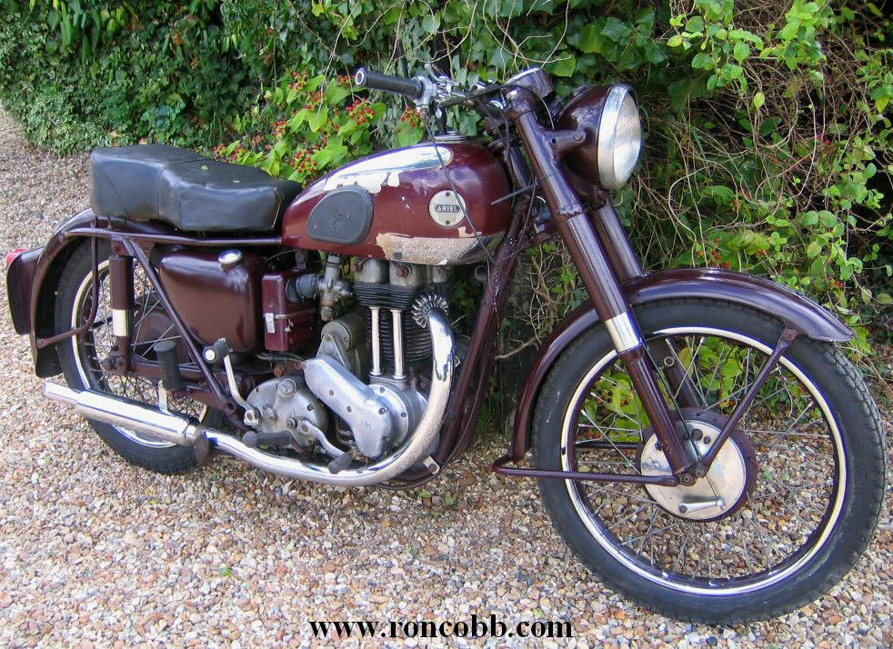 1954 Ariel Nh 350cc Red Hunter Classic Motorcycle For Sale