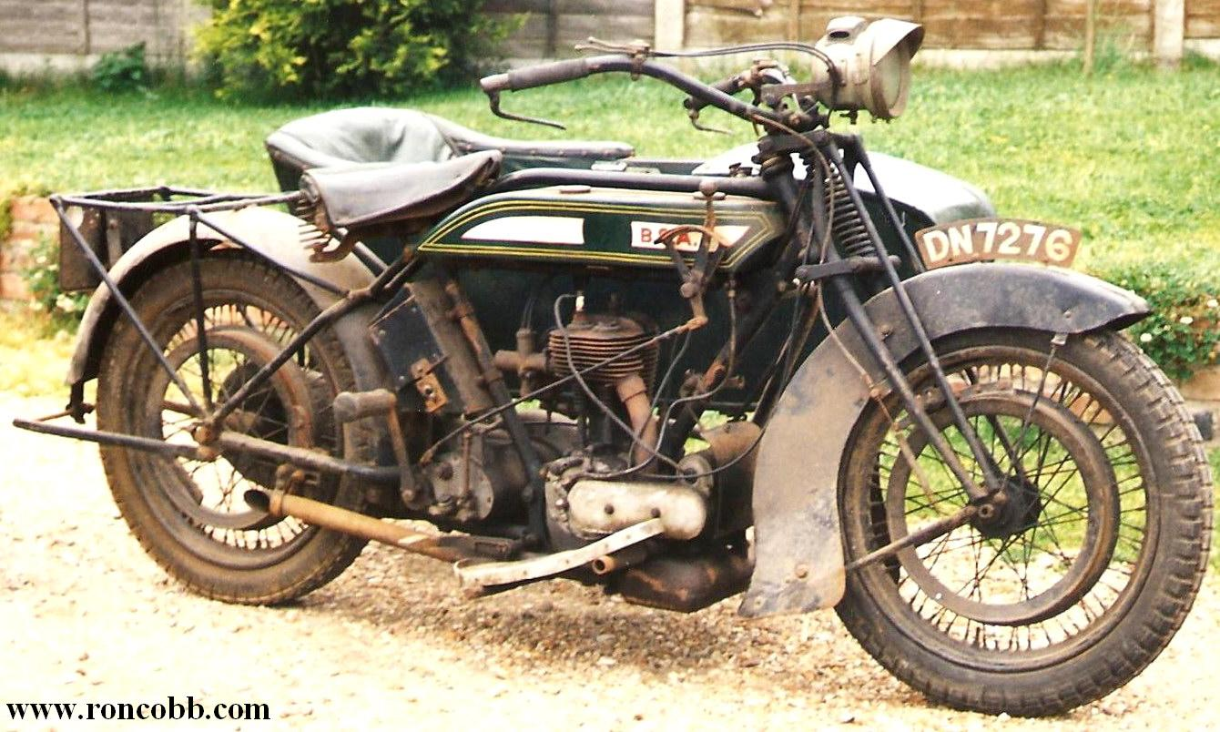 1923 BSA Motorcycle Combination - Side car outfit for sale