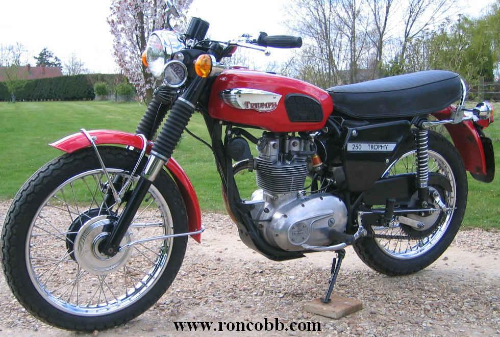 1965 Triumph Tr25w Trophy 250cc Classic Motorcycle For Sale